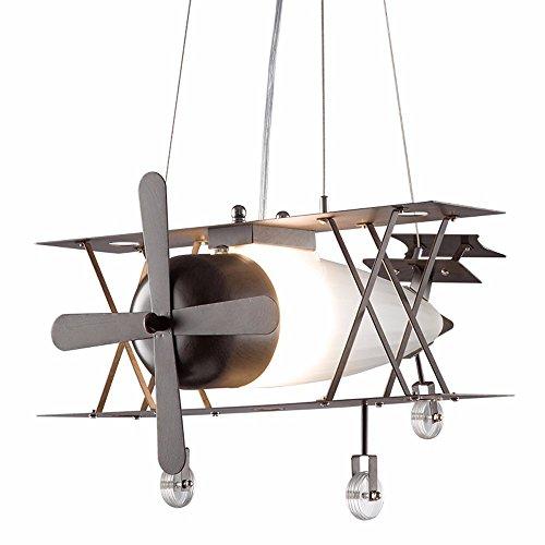 Baron W.H Industrial fan chandelier creative personality restaurant single - head iron art glass clothing workshop ()