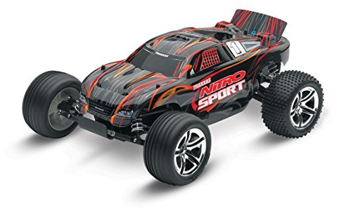 Traxxas Nitro Sport: 2WD Stadium Truck with TQ 2.4 GHz Radio (1/10 Scale), Black (Traxxas Nitro Rc)