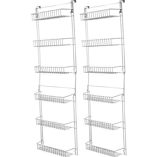 Over Door Kitchen Storage Basket Rack 5 Foot 6 Shelves Pantry Closet Set of 2 by pt shop