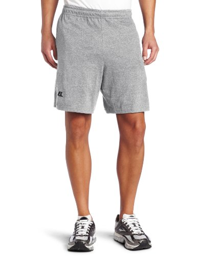 Russell Athletic Men's Cotton Performance Baseline Short, Oxford, Large - Mens Cotton Gym Shorts
