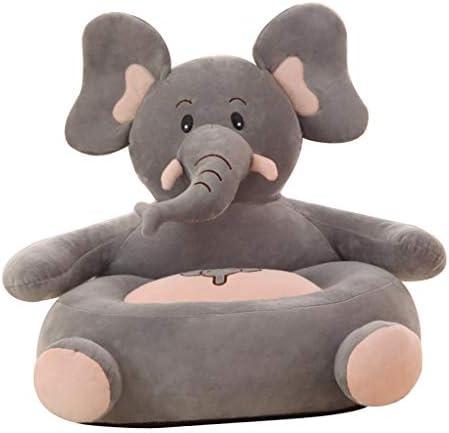 子供 赤ちゃん ソファシートカバー 肘掛け 動物形 ベルベット生地 50×50cm 全6タイプ - 象