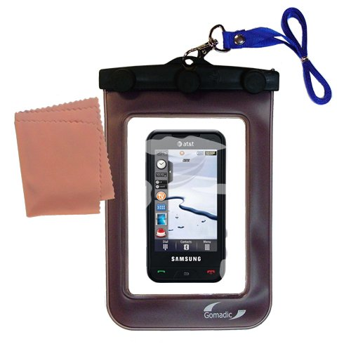 outdoor Gomadic waterproof carrying case suitable for the Samsung SGH-A867 Eternity to use underwater - keeps device clean and dry - A867 Case