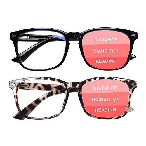 SIGVAN Progressive Multifocal Computer Glasses Women Men Blue Light Blocking Reading Glasses Spring Hinge Readers