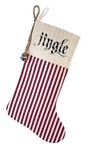 Jingle Stocking - Melrose Cotton Christmas Jingle Stocking
