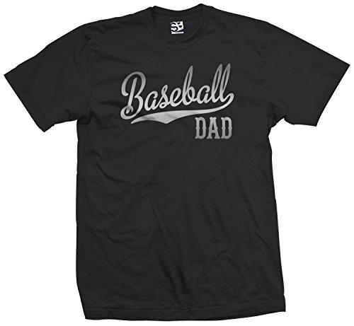 Shirt Boss Unisex Baseball Dad Script & Tail T-Shirt Large Black / Met Silver