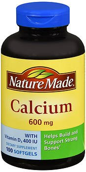 Nature Made Calcium 600 mg With Vitamin D Liquid Softgels 100 ea (Pack of 2)