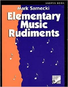 Elementary Music Rudiments Answer Book