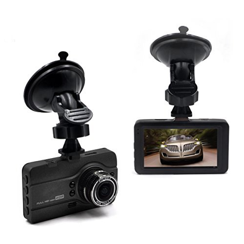 OldShark 3.0' Full 1296P Car DVR Recorder 170 Degree Dash Camera Vehicle Camcorder WDR G-Sensor Motion Detection Loop Recording Night Vision Parking Monitor