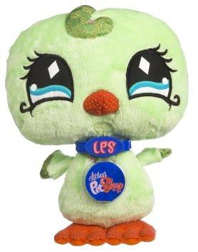 Littlest Pet Shop VIP Virtual Interactive Pet Plush Figure Green Bird (Plush Bird Green)