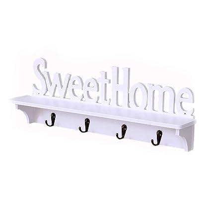 Amazon.com: Unicoco Sweet Home Design Wall Hanger with 4 ...
