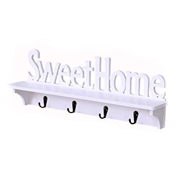 Amazon.com: Unicoco Sweet Home Design Wall Hanger with 4 ...