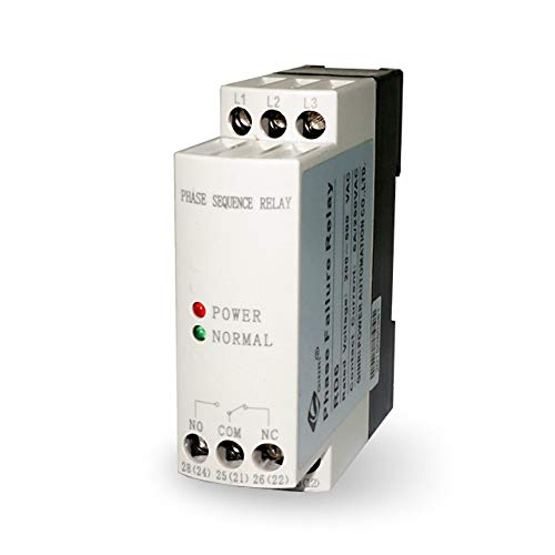 GINRI JVRD6 Phase Failure Relay Phase Sequence Protection Voltage Monitoring Relay 200V-500VAC ()
