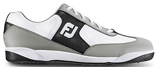 FootJoy Men's GreenJoys Spikeless Golf Shoes White/Grey/Charcoal Size 11 M (Footjoy Shoe Care)