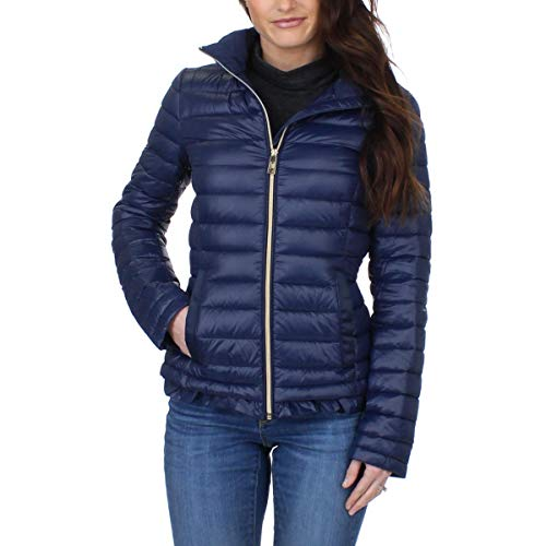 Ivanka Trump Women's Short Packable Down Coat, Navy, XS