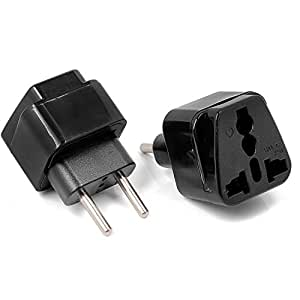 Aukru 2X Universal Adaptador de Enchufe UK/US /AU/Asia a UE, Adaptador Europeo de Viaje Enchufe