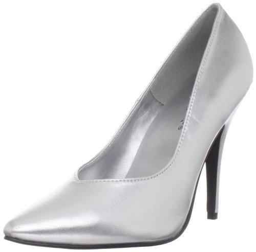 Pleaser Plateado Punta Con 420v Para Tacón Cerrada silver Seduce Mujer Zapatos De rvwrqf