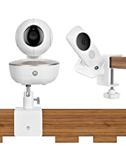 Baby Monitor Mount Bracket Camera Shelf for Motorola Baby Monitor, Arlo Baby Monitor,Baby Camera Holder,Attaches to Crib Cot Shelves or Furniture,Without Tools or Wall Damage