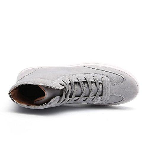 Uomo Cricket da Scarpe da da Alto Scarpe Piatto con alla Grigio Tacco Caviglia Sneaker Tacco Uomo 1w6CEqt6