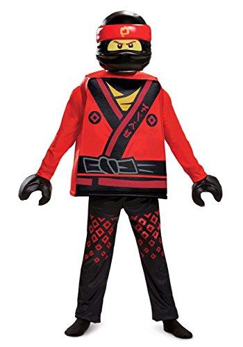 Kai LEGO Ninjago Movie Deluxe Costume, Red, Small (4-6)