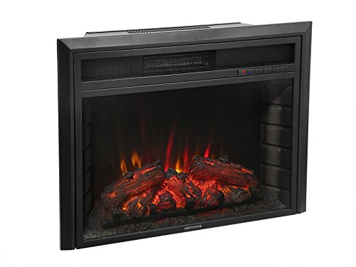 28' 1500W Free Standing Insert LED Log Electric Fireplace Firebox Ventless W/ Remote 5200BTUs SX-0026-A1
