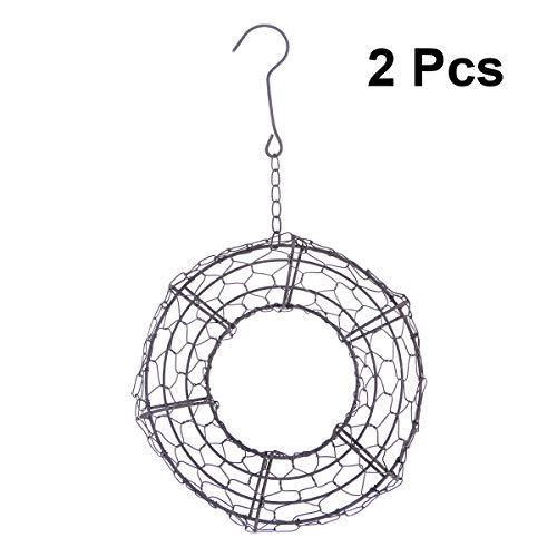 Vosarea Wire Wreath Succulent Pot Iron Hanging Planter Plant Holder for Home Store graden