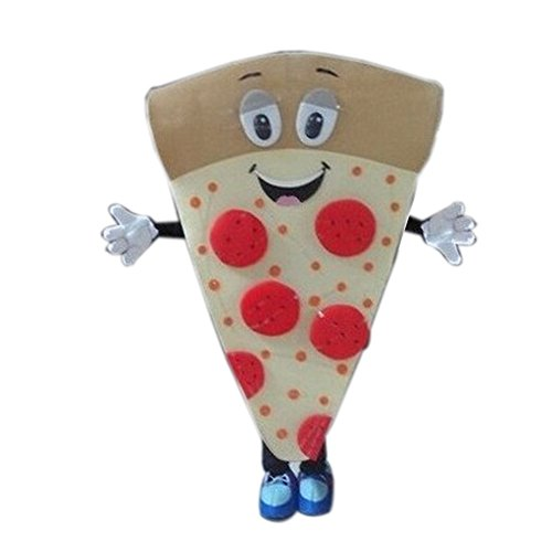 Big Pizza Mascot Costume Cartoon Halloween Party Dress Adult Size