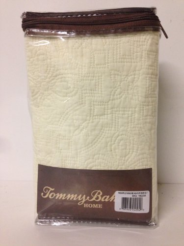Tommy Bahama Pineapple Paradise Quilted Euro Pillow Sham Cream