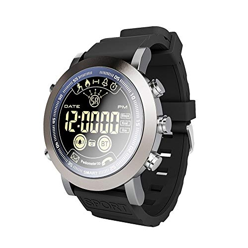 haixclvyE LF23 Waterproof Sport Smart Watch,Call SMS Pedometer Fitness Tracker Smart Watch for iOS Android Silver