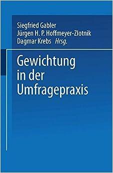Book Gewichtung in der Umfragepraxis (ZUMA-Publikationen)