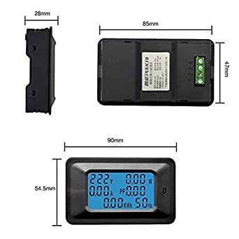 Widewing 100A LCD Dispaly Digital Panel Power Watt Meter Voltage Voltmeter Ammeter: Amazon.com: Industrial & Scientific