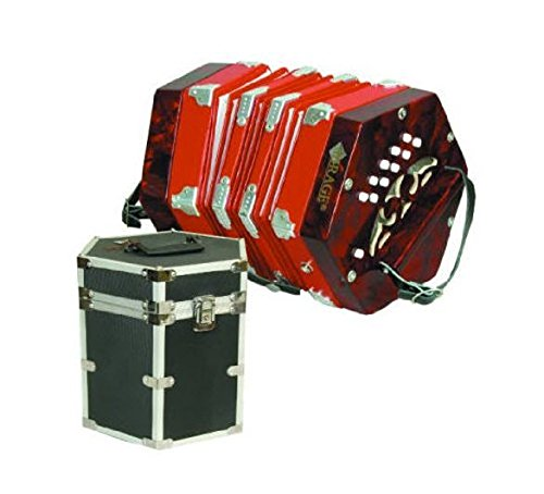 20 Button 40 Reed Concertina w/ Hard Case