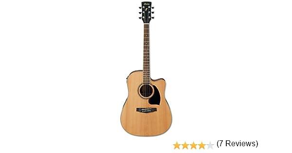 Ibáñez PF17ECE LG amplificada mate guitarra acústica bajo brillo ...
