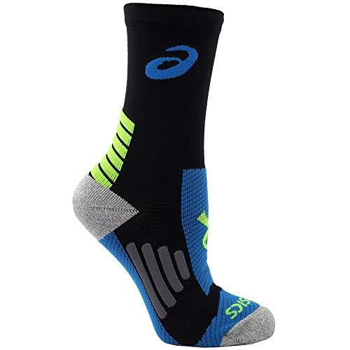 Asics ZKP2372 Mens Rally Crew Socks, Black/Electric-L ()