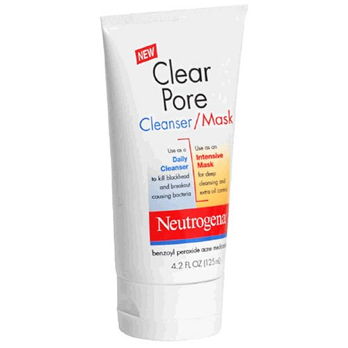 Neutrogena Clear Pore Cleanser/Mask, 4.2 Ounce (Pack of 3)
