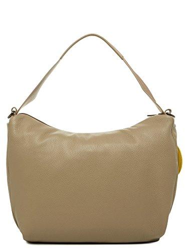 Mandarina Duck Mellow Leather Tracolla - Bolso de hombro Mujer Grau (SIMPLY TAUPE)