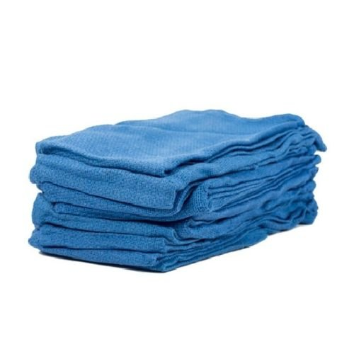 Globe House Products GHP 120-Pcs 15''x25'' 100% Cotton Preshrunk Blue Shop Rag Huck Towels by Globe House Products