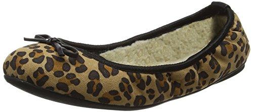 Butterfly Twists Penelope - Zapatillas de Ballet Mujer Brown (Tan Leopard)