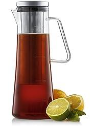 JoyJolt Fresco Cold Brew Iced Coffee Maker, Glass Tea Maker 1 Liter-32 oz