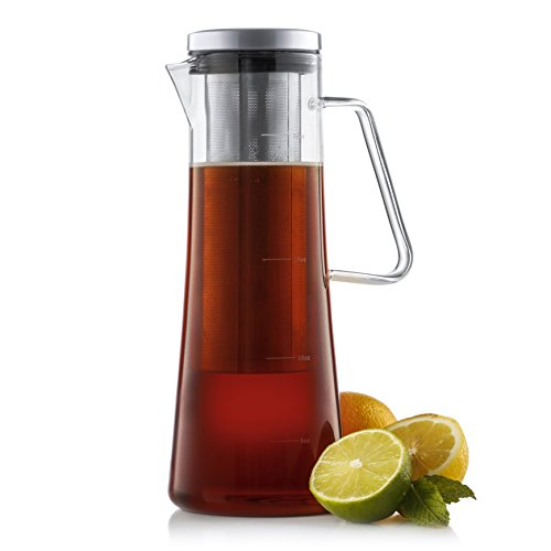 JoyJolt Fresco Cold Brew Iced Coffee Maker, Glass Tea Maker 1 Liter-32 oz ()