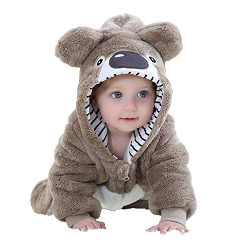 MerryJuly Unisex-Baby Animal Onesie Costume Cartoon Outfit Homewear (80cm/(6-12 Months), Koala -