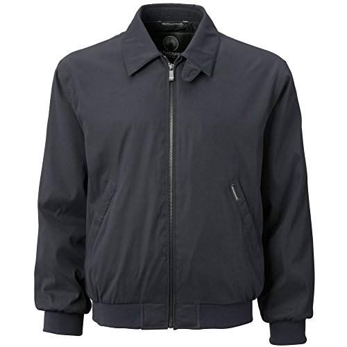 (Weatherproof Garment Co. Men's Microfiber Classic Golf Jacket, Navy, Small)