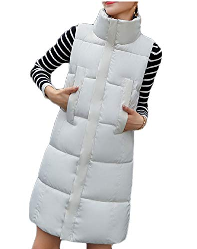 Thickened Women's Jacket Long White Zip Casual Coats Vest security Down d5Ywdq