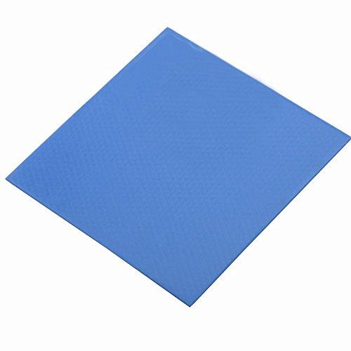 Soft Thermal Silicone Pad Wathai 100x100x1mm Blue Cooling for CPU GPU VGA IC Heatsink (Thickness: 1mm) by Wathai
