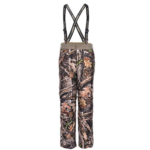 Lucky Bums Koda Adventure Gear Youth True Timber Waterproof Insulated Suspender Pants, Kanati, - Clothes Youth Hunting