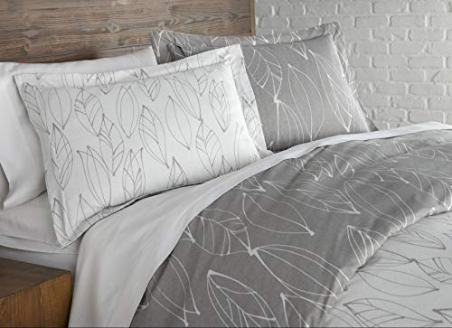 Quality Choice Modern Duvet Cover Sets Color Modern Foliage Gray Size King/California King from Unknown