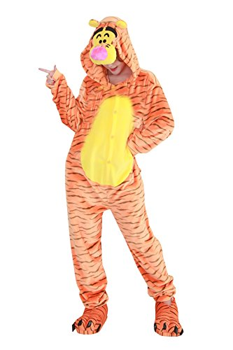 Duraplast One-Piece Lounge Pajamas Tiger Costumes Teens Gift