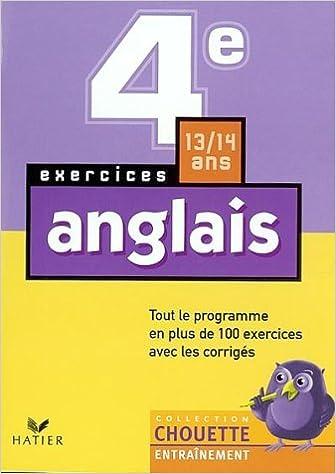 Téléchargement gratuit de livres anglais pdf Chouette Entraînement : Anglais, 4e - 13-14 ans (+ corrigés) 221873995X PDF