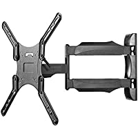 Kanto M300 Full Motion TV Mount – For 26-inch to 55-inch Television Sets – Accessible Tilt Mechanism with 135° Swivel Function – Solid Steel Construction