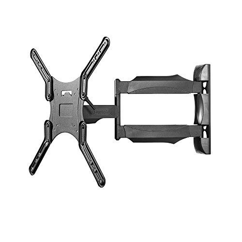 Kanto M300 Full Motion TV Mount – For 26-inch to 55-inch Television Sets – Accessible Tilt Mechanism with 135° Swivel Function – Solid Steel Construction (Steel Plates Floor)