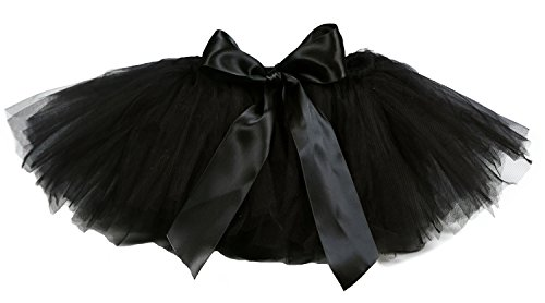 (Tutu Dreams Girls Black Tutu Skirt Size 8 Fluffy Tulle Bubble Skirts Petticoat Dance Ballerina (8 for 7-8Y, Black))